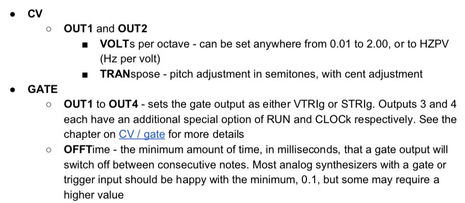 CV Gate OFFTime